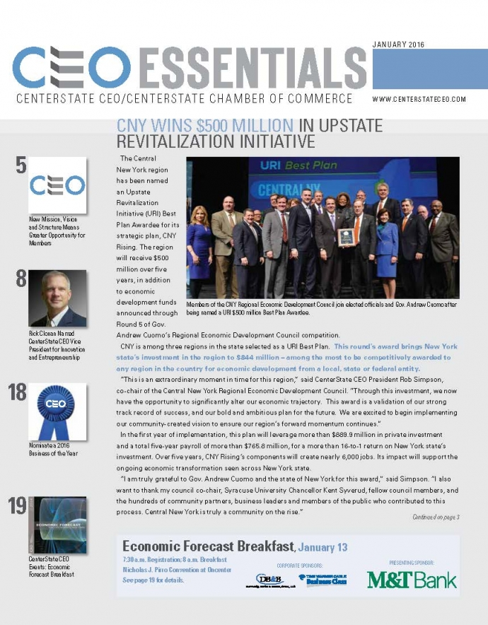 January 2016 CEO Essentials Cover